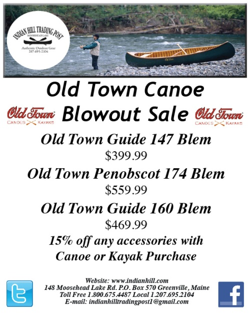 End of Season Canoe Sale